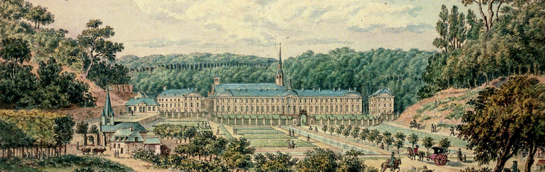 Drawing of the abbey of Premontre, ca. 1780
