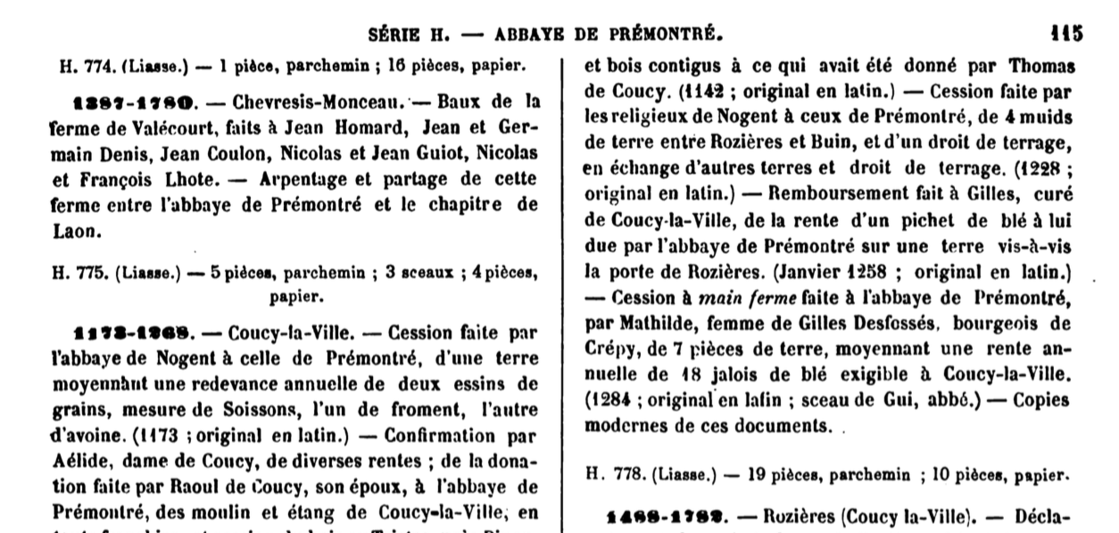 List of Inventaires-Sommaires (Séries G & H) of French Departmental Archives