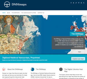 The Digitized Medieval Manuscripts app homepage.