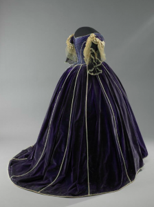 This beautiful purple velvet dress is believed to have been made by Elizabeth Keckley for Mary Todd Lincoln. Smithsonian COLL.MTLDRS.005003